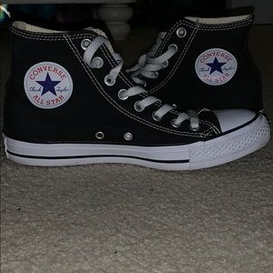 Women's Black High Top Converse